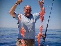 在La Manga钓鱼拖钓高度10小时