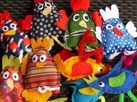 Marionetas con telas