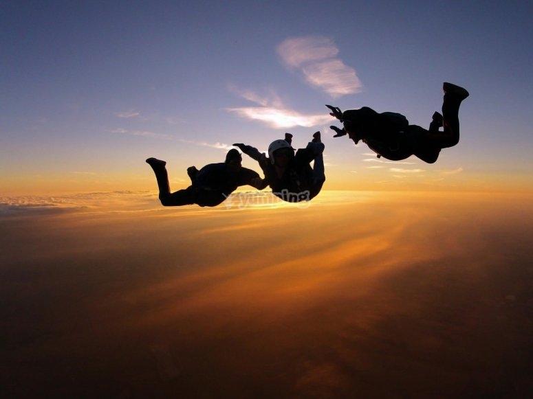 Gruppo di paracadutismo a Siviglia