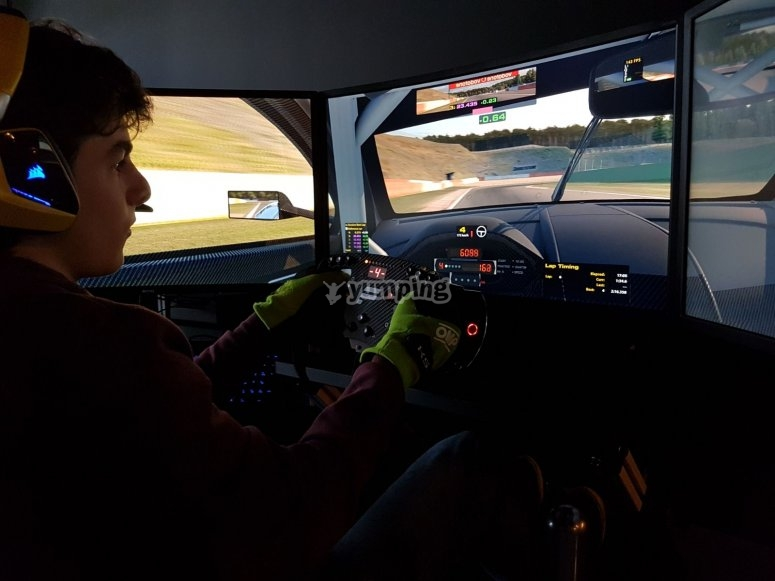 Carrera en simulador