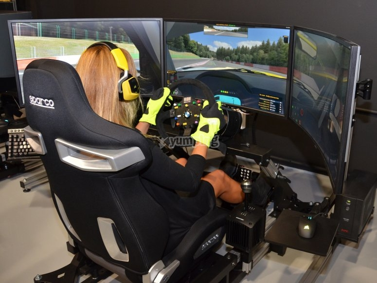 Driving in the simulator