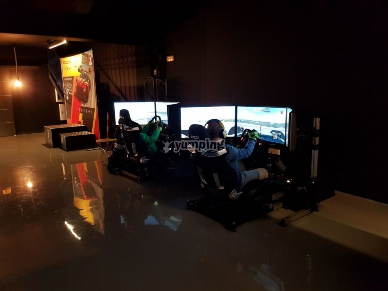 Simulatore pilota a Madrid