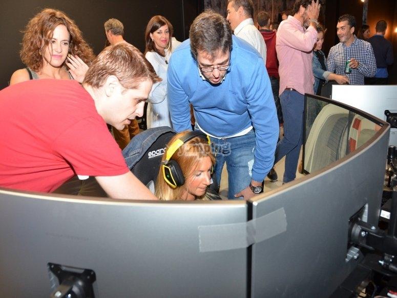 Dando instrucciones en el simulador
