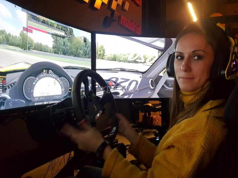 Girl in the competition simulator