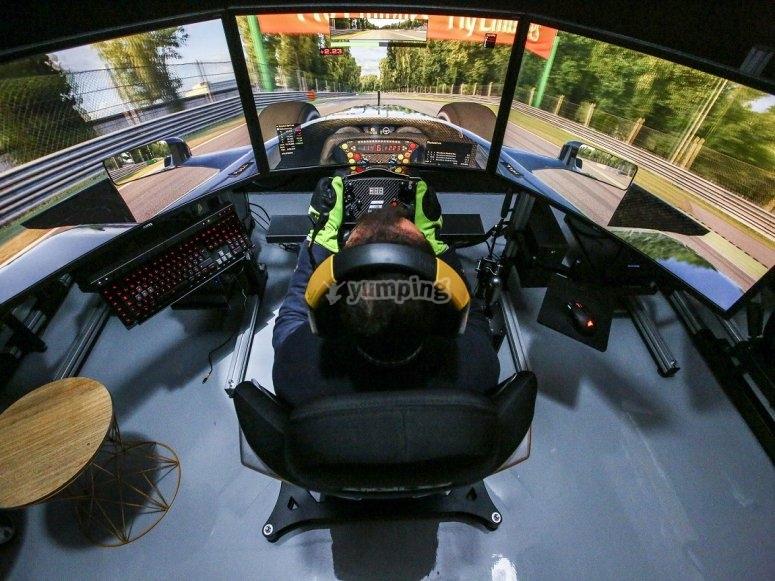 Pilotaje en simulador para despedidas
