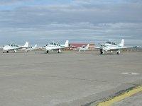 Vista de las avionetas