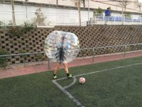 1h Football Bubble in Madrid's City Center