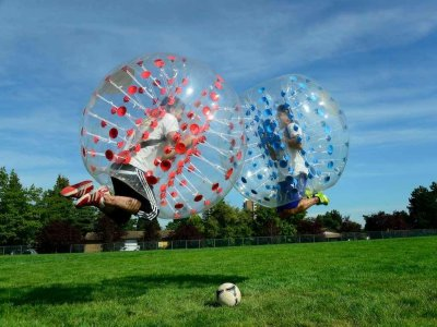 Bubble Soccer Match in Zaragoza, 1 Hour