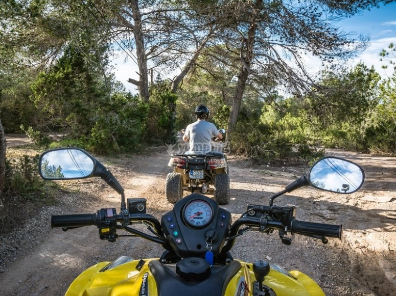 Excursion en quad en Ibiza