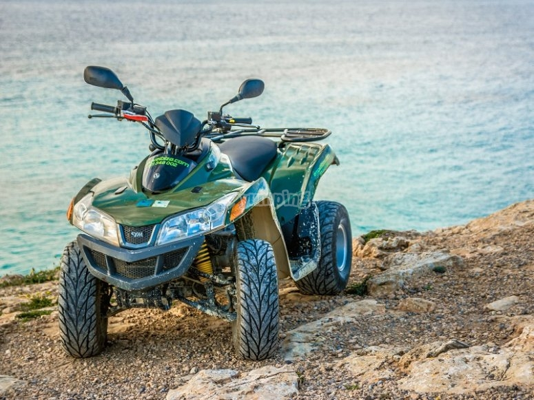 Parked quad in Ibiza