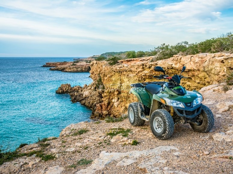 Quad in the cliffs in Ibiza