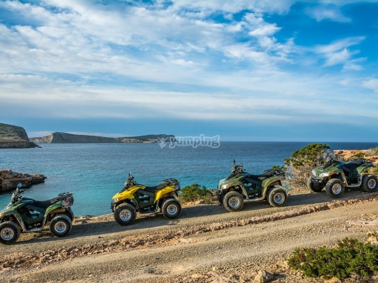 Quads facing the coast of Ibiza
