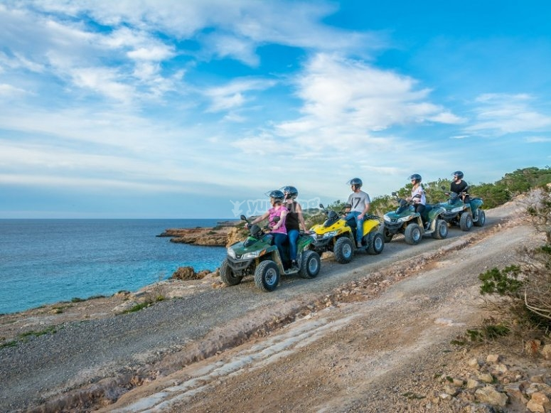 Quad journey through Ibiza