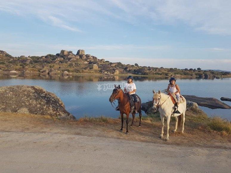 Ride across the pool of Los Barruecos