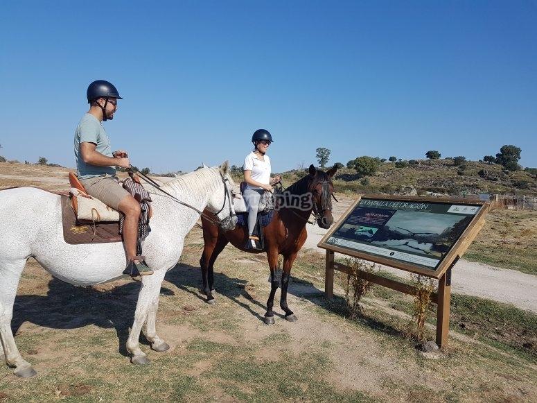 Ride a horse in Los Barruecos