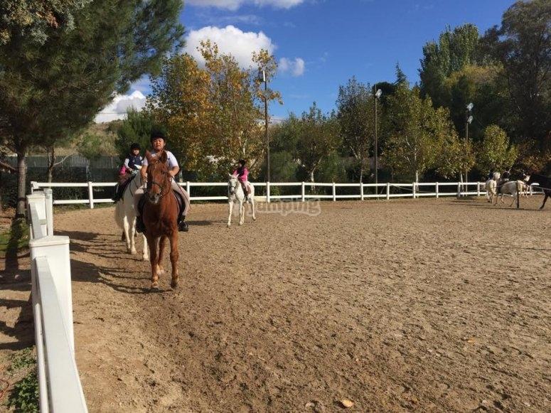 Sesion de equitacion en El Pardo