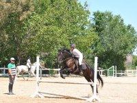 Clase de salto en El Pardo