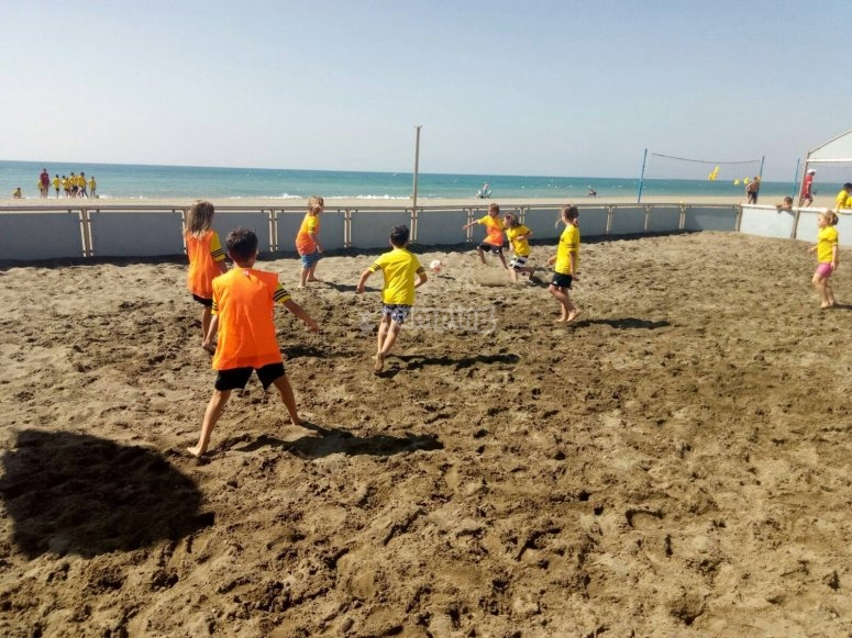 Soccer in the beach