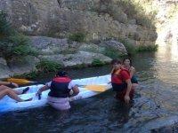 Practicando con canoa