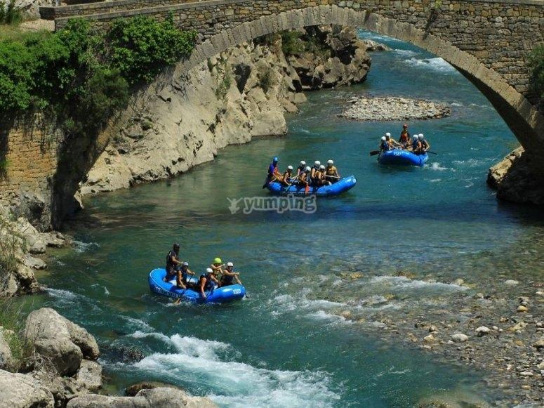 Ruta de rafting en Huesca