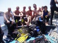 Trasferimento all'inizio dell'immersione