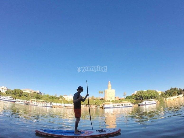 Navega en paddle surf en sevilla