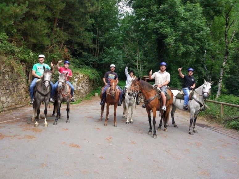 Excursion a caballo en Fonsagrada