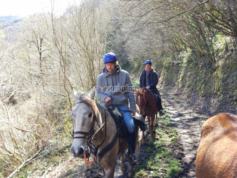 A cavallo a Fonsagrada