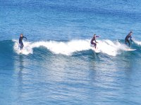 Bautismo de surf en la costa de Moaña