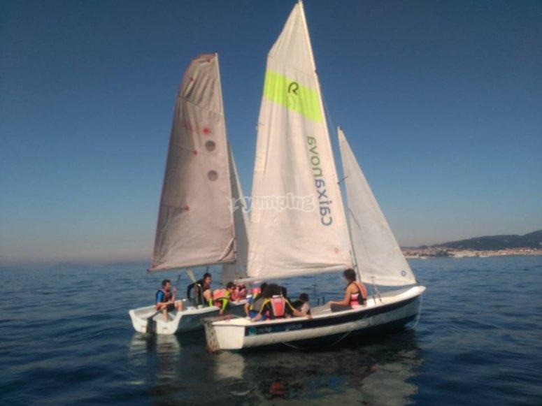 Cruising sailing