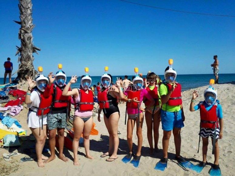 Antes de practicar snorkel