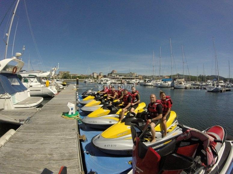 Moto d'acqua a Pontevedra