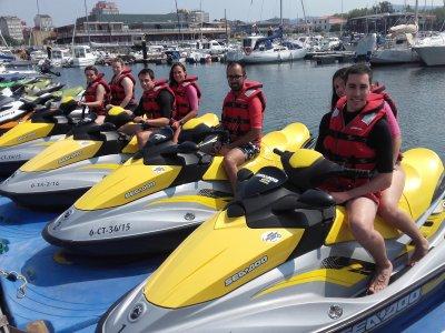 Ruta en moto de agua Ría de Arousa para empresas