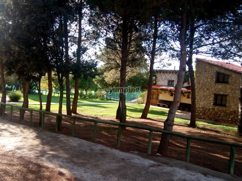 Entorno natural del campamento en Sinarcas