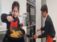 Young chefs in action