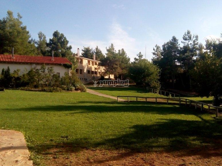 Prado junto a la casa en Sinarcas