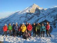 Expedicion con raquetas de nieve en Asturias