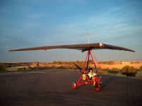 Hang glider ready to take off