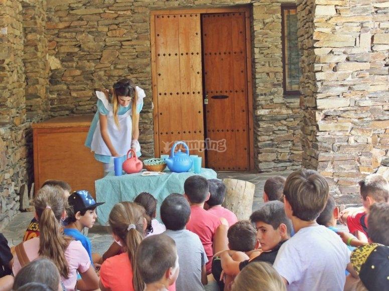 Teatro en el campamento