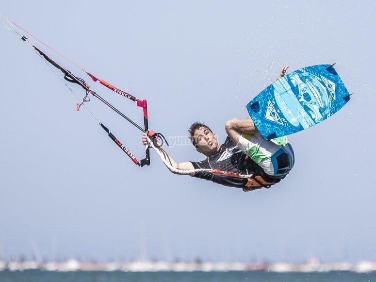 Kitesurf classes in the Mar Menor