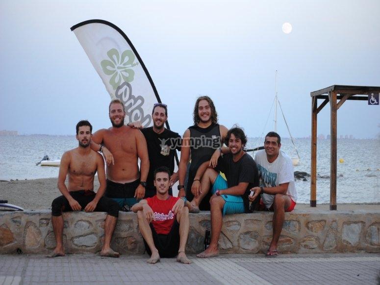 3月的风筝冲浪课程