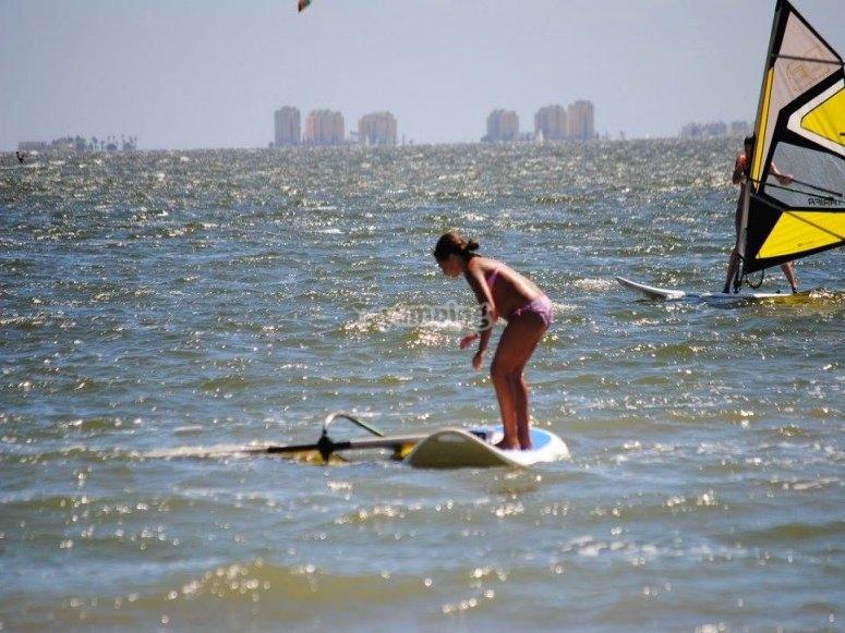 Practica windsurf en Murcia