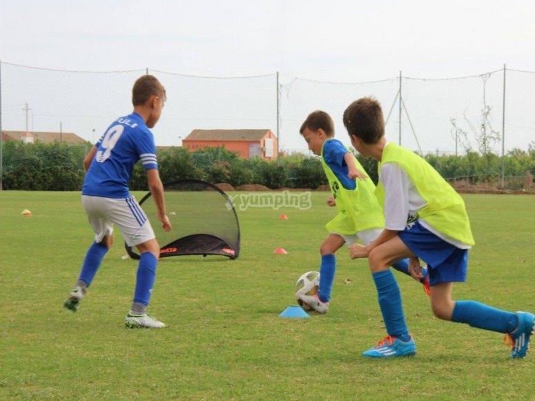 Campus de fútbol en Valencia