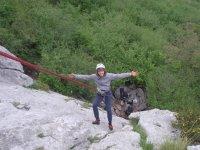 Escalando cerca de Asturias