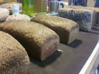ecological bread with different flours
