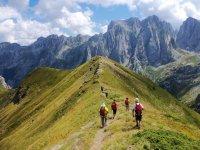 Ruta trekking en montañas