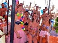 Girls having drinks on board
