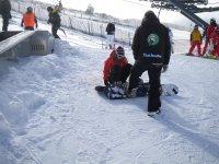 儿童滑雪场监控器单板滑雪
