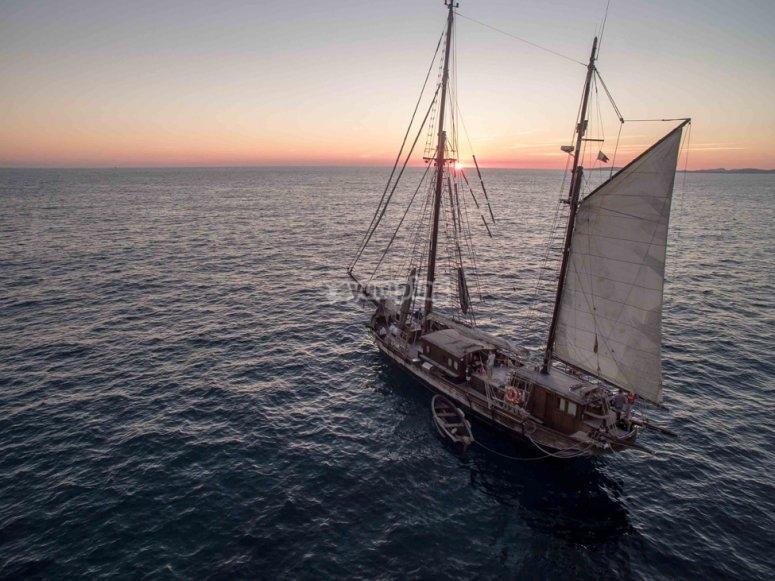 Surca la Bahia de Palma de Mallorca
