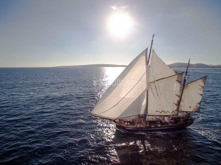 Pasea en velero